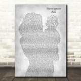 The Seekers Morningtown Ride Mother & Baby Grey Decorative Wall Art Gift Song Lyric Print