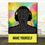 Incubus Make Yourself Multicolour Man Headphones Decorative Gift Song Lyric Print