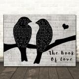Peter Gabriel The Book of Love Lovebirds Music Script Decorative Gift Song Lyric Print