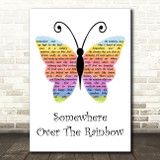 Israel Kamakawiwo'ole Somewhere Over the Rainbow Rainbow Butterfly Gift Song Lyric Print