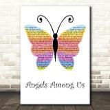 Alabama Angels Among Us Rainbow Butterfly Decorative Wall Art Gift Song Lyric Print