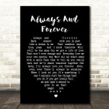 Always And Forever Luther Vandross Black Heart Song Lyric Quote Print