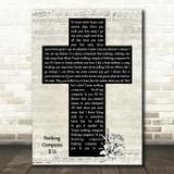 Chris Cornell Nothing Compares 2 U Music Script Christian Memorial Cross Song Lyric Print