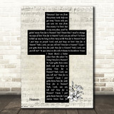 Los Lonely Boys Heaven Music Script Christian Memorial Cross Song Lyric Print