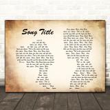 Any Song Lyrics Custom Landscape Couple Wall Art Quote Personalised Lyrics Print
