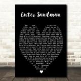Enter Sandman Metallica Black Heart Song Lyric Quote Print