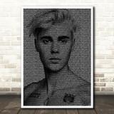 Justin Bieber Sorry Face s Music Song Lyric Wall Art Print