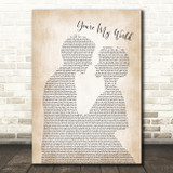 Cilla Black You're My World Man Lady Bride Groom Wedding Song Lyric Quote Print