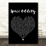 David Bowie Space Oddity Black Heart Song Lyric Quote Print