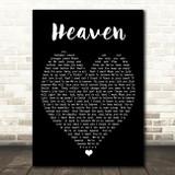 Heaven Bryan Adams Black Heart Quote Song Lyric Print