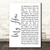 Foo Fighters My Hero White Script Song Lyric Quote Print
