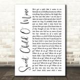 Guns N' Roses Sweet Child O' Mine White Script Song Lyric Quote Print