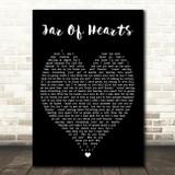 Jar Of Hearts Christina Perri Black Heart Quote Song Lyric Print