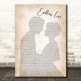 Lionel Richie & Diana Ross Endless Love Man Lady Bride Groom Song Lyric Print
