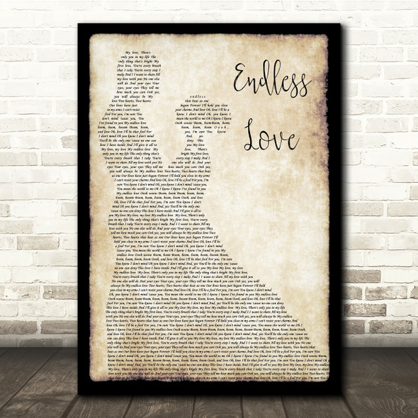 Lionel Richie Endless Love Man Lady Dancing Song Lyric Quote Print