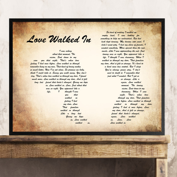 Thunder Love Walked In Man Lady Couple Song Lyric Quote Print