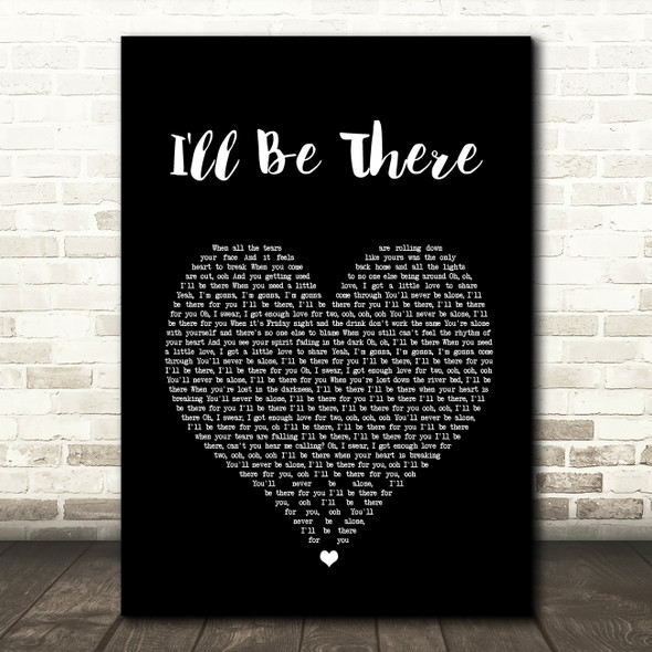 Jess Glynne I'll Be There Black Heart Song Lyric Quote Print