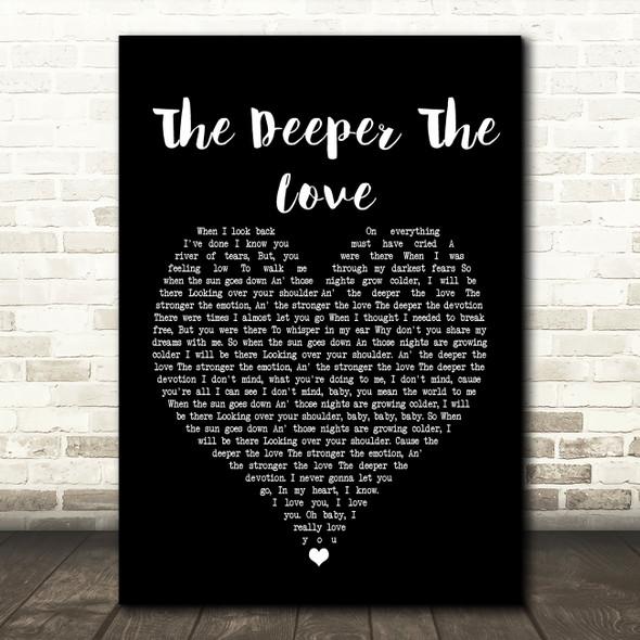 Whitesnake The Deeper The Love Black Heart Song Lyric Quote Print