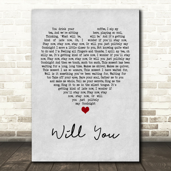 Hazel O'Connor Will You Grey Heart Quote Song Lyric Print