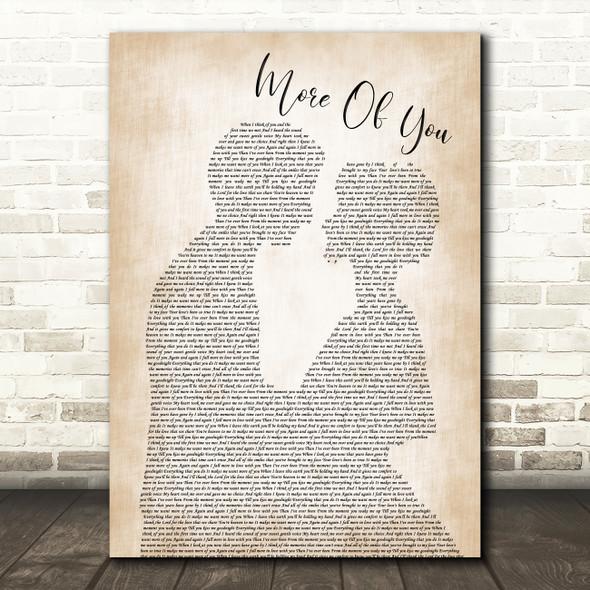 Chris Stapleton More Of You Man Lady Bride Groom Wedding Print