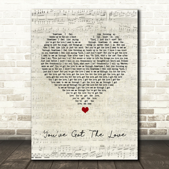 Candi Staton You've Got The Love Script Heart Song Lyric Quote Print