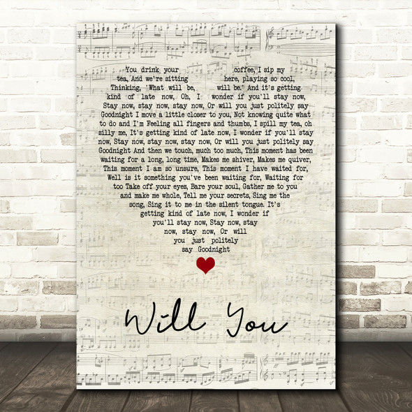 Hazel O'Connor Will You Script Heart Quote Song Lyric Print