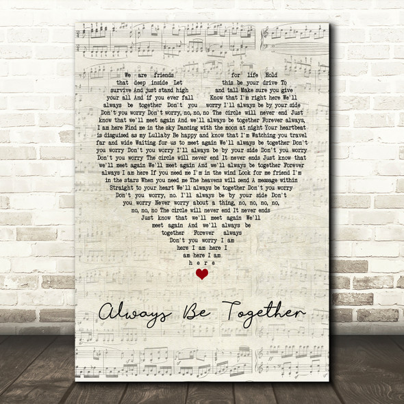 Little Mix Always Be Together Script Heart Quote Song Lyric Print
