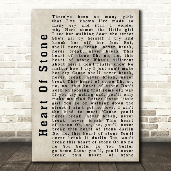 The Rolling Stones Heart Of Stone Shadow Song Lyric Quote Print