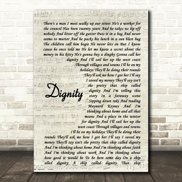 Deacon Blue Dignity Song Lyric Vintage Script Quote Print