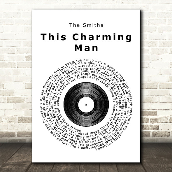 The Smiths This Charming Man Vinyl Record Song Lyric Quote Print