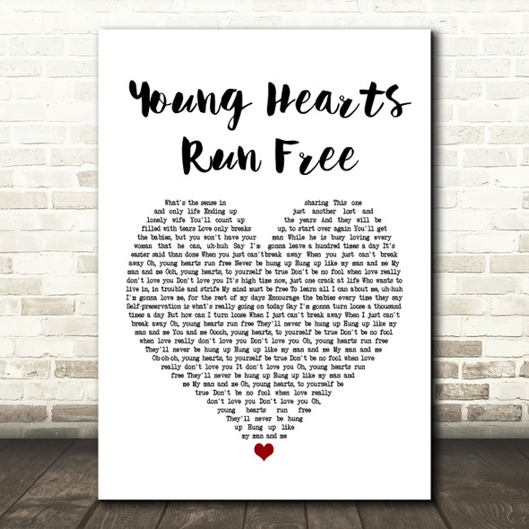 Candi Staton Young Hearts Run Free Heart Song Lyric Quote Print
