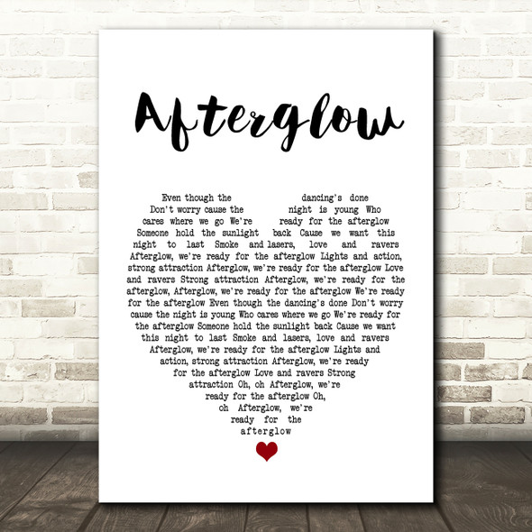 Wilkinson Afterglow Heart Song Lyric Quote Print
