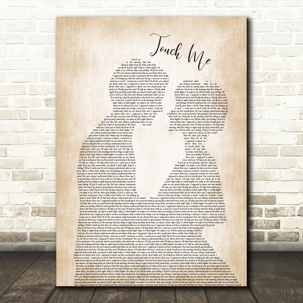 Dj Rui Da Silva Touch Me Man Lady Bride Groom Wedding Song Lyric Framed Print