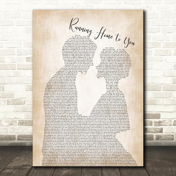Grant Gustin Running Home to You Man Lady Bride Groom Wedding Song Lyric Framed Print