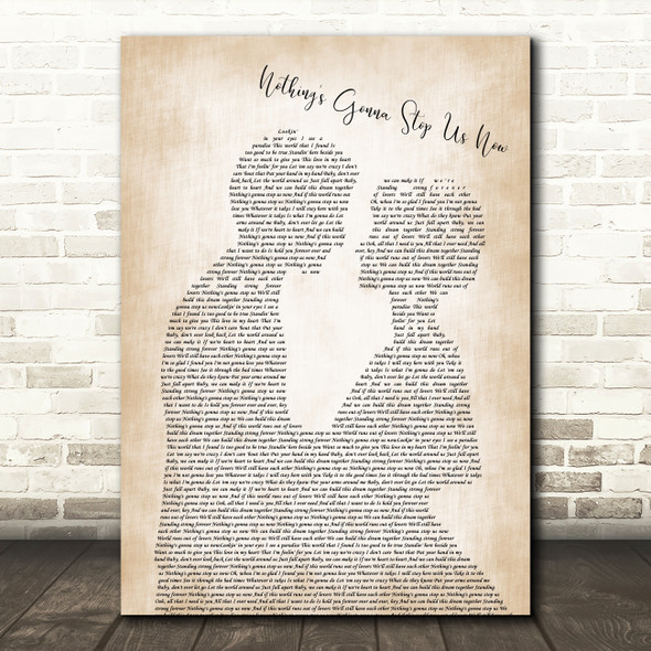 Jefferson Starship Nothing's Gonna Stop Us Now Man Lady Bride Groom Wedding Song Lyric Framed Print