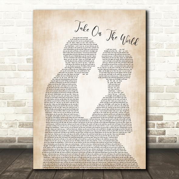 You Me At Six Take On The World Man Lady Bride Groom Wedding Song Lyric Framed Print