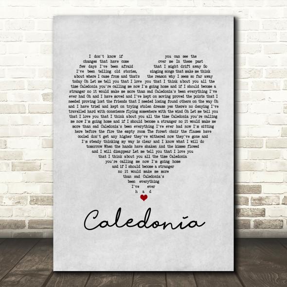 Dougie MacLean Caledonia Grey Heart Song Lyric Framed Print