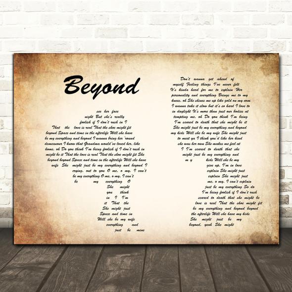 Leon Bridges Beyond Man Lady Couple Song Lyric Framed Print