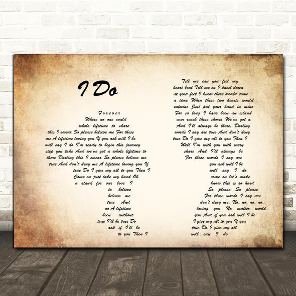 Westlife I Do Man Lady Couple Song Lyric Framed Print