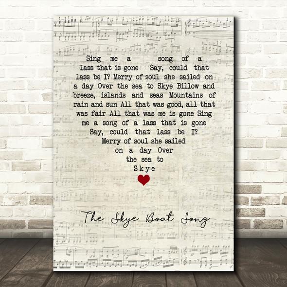 Bear McCReary The Skye Boat Song Script Heart Song Lyric Framed Print
