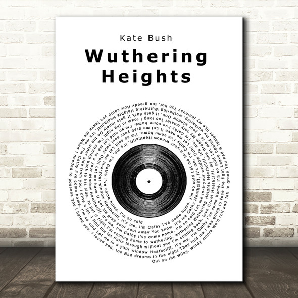 Kate Bush Wuthering Heights Vinyl Record Song Lyric Framed Print