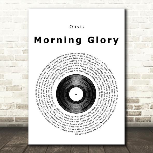 Oasis Morning Glory Vinyl Record Song Lyric Framed Print