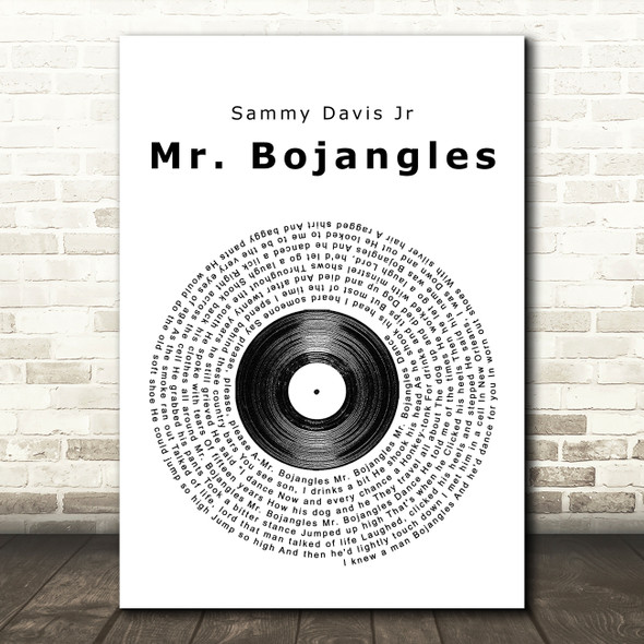 Sammy Davis Jr Mr. Bojangles Vinyl Record Song Lyric Framed Print