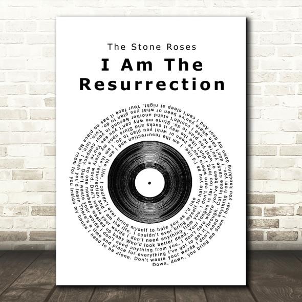 The Stone Roses I Am The Resurrection Vinyl Record Song Lyric Framed Print