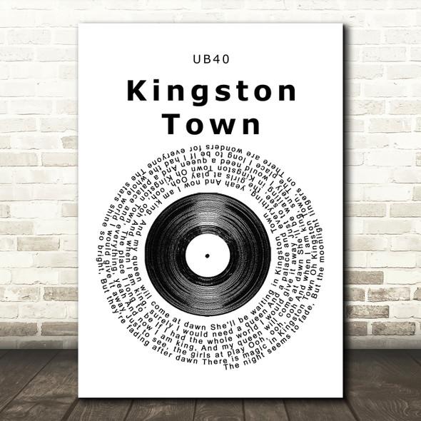 UB40 Kingston Town Vinyl Record Song Lyric Framed Print