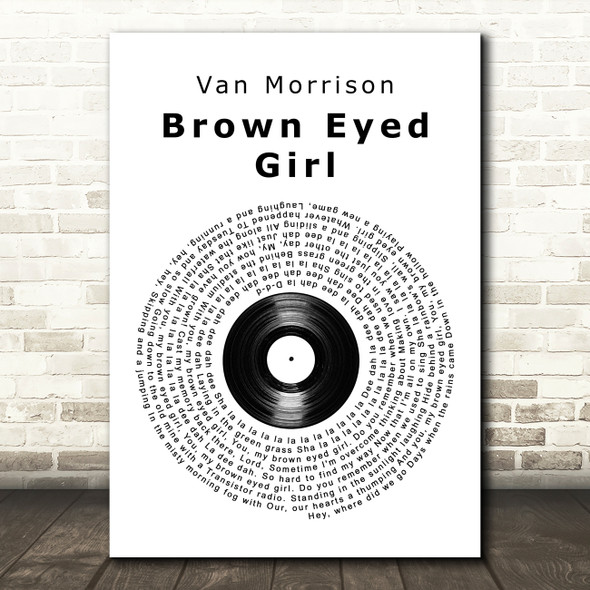 Van Morrison Brown Eyed Girl Vinyl Record Song Lyric Framed Print