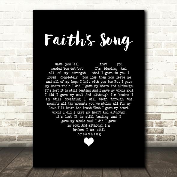 Amy Wadge Faith's Song Black Heart Song Lyric Print