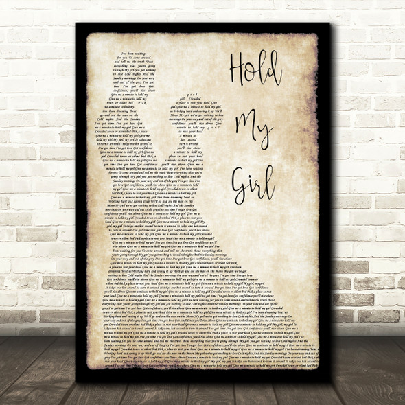 George Ezra Hold My Girl Song Lyric Man Lady Dancing Quote Print