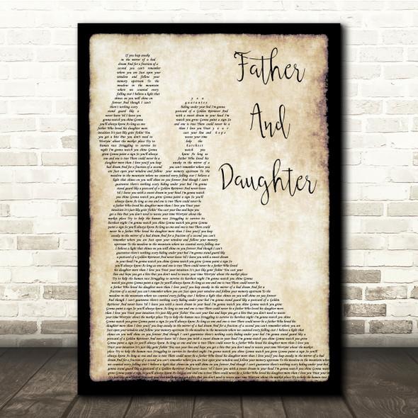 Paul Simon Father And Daughter Man Lady Dancing Song Lyric Print