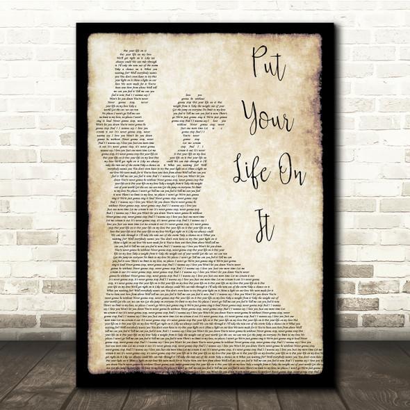 Kasabian Put Your Life On It Man Lady Dancing Song Lyric Print